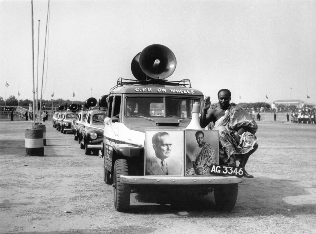 Ghana, 1961. The parade of social organizations in Accra, held in honour of President Tito. (Copyright Museum of Yugoslavia, Belgrade)