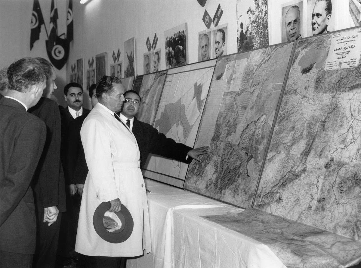 Tunisia, 1961. President Tito visiting the Centre for Advancement of Agriculture in El Hababi. (Copyright Museum of Yugoslavia, Belgrade)