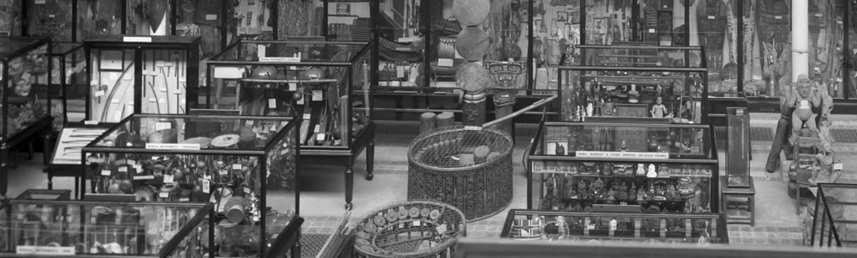 Early view of interior of Pitt Rivers Museum