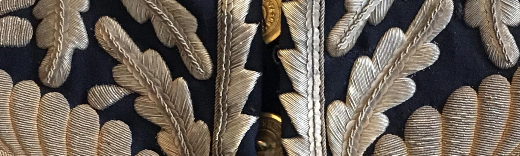 Goldwork embroidery detail