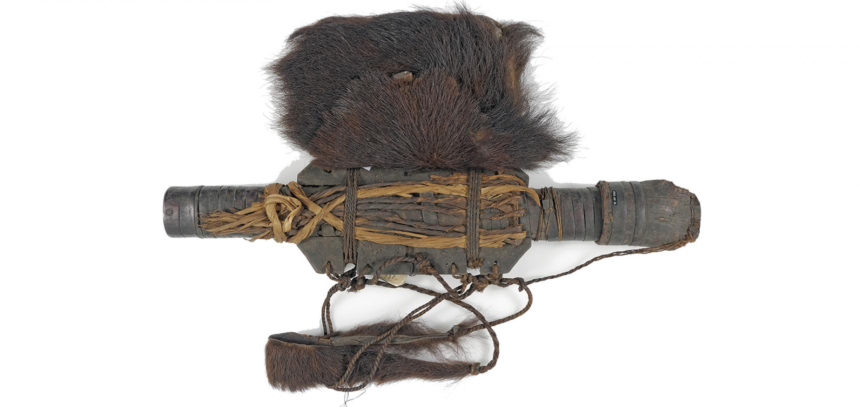 Ainu hunting quiver (1910.68.12) after conservation