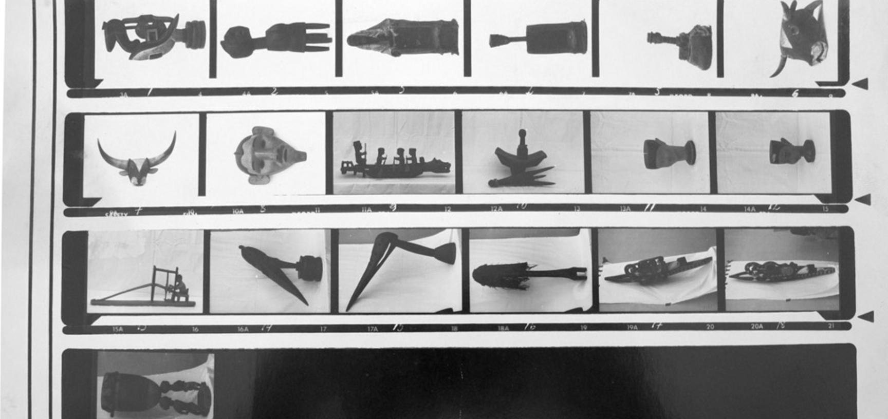 Contact sheet from the collection of the Ethnographic Museum of Guinea-Bissau. (Copyright Ethnographic Museum of Guinea-Bissau)