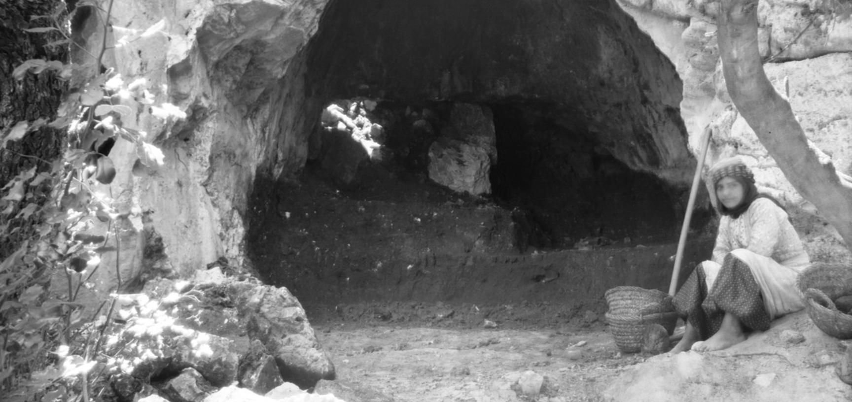 This photograph captures the condition of Tabun Cave before it was excavated in 1929. (Copyright Pitt Rivers Museum, University of Oxford. Accession Number: 1998.294.262)