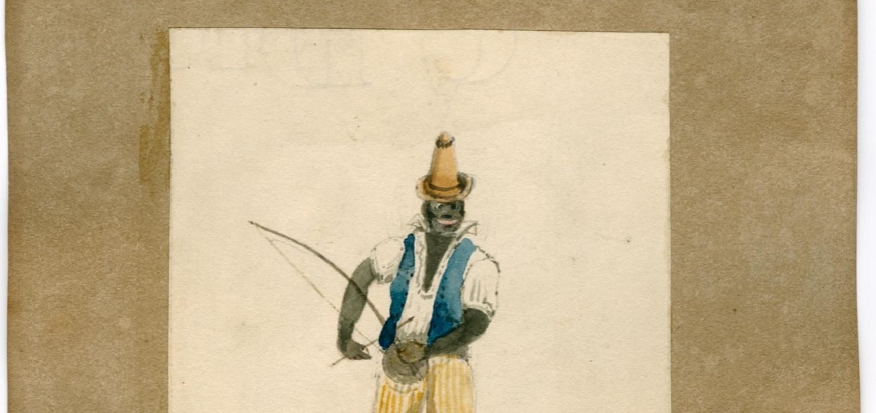 A musician from Rio de Janeiro. The <I>Seringapatam</i> was anchored at Rio in the latter months of 1829 and from June to August 1832.