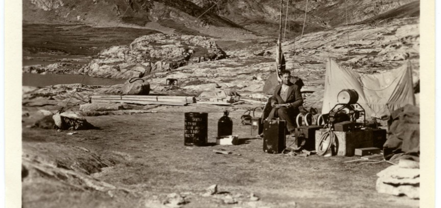 A member of the expedition party. Greenland. 1930–1931.