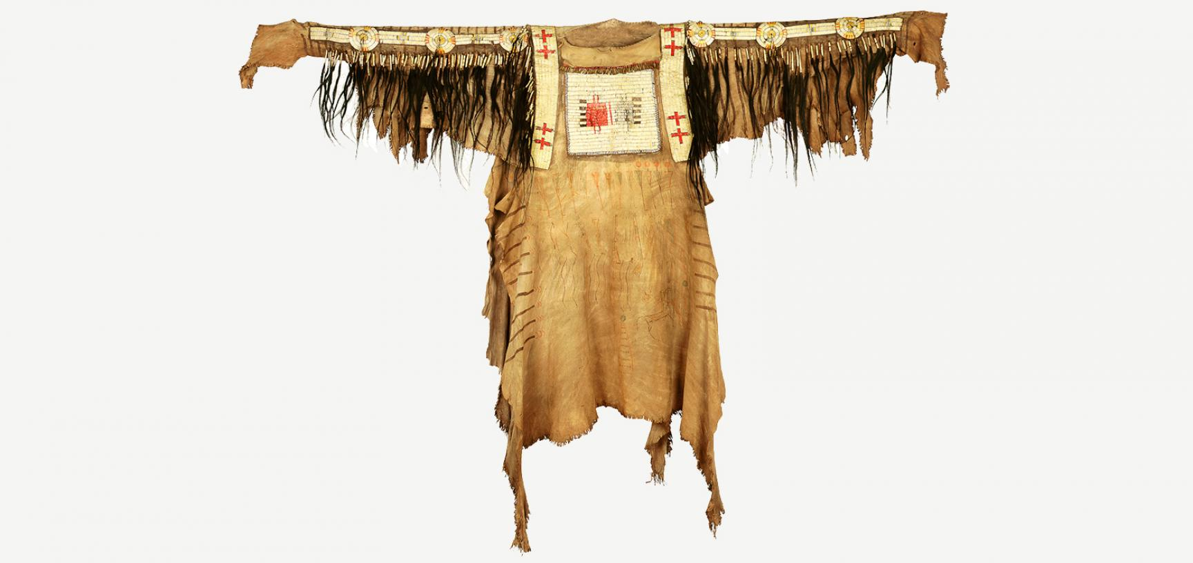 Blackfoot hide shirt (1893.67.1) after conservation
