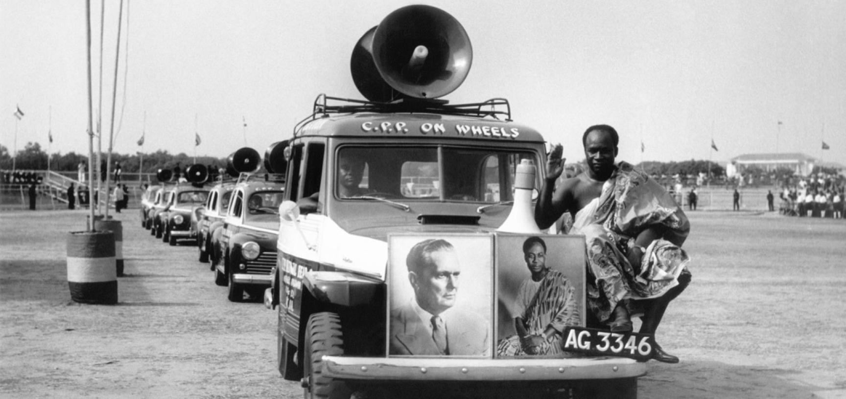Ghana, 1961. The parade of social organizations in Accra, held in honour of President Tito. (Copyright Museum of Yugoslavia, Belgrade)