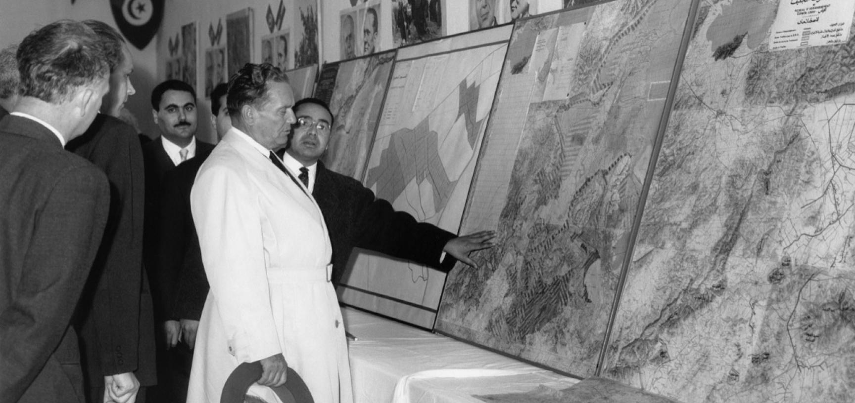 Tunisia, 1961. President Tito visiting the Centre for Advancement of Agriculture in El Hababi. (Copyright Museum of Yugoslavia, Belgrade)
