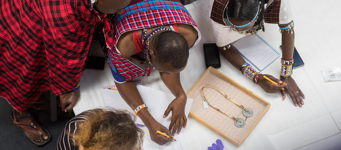 Maasai group visiting the Pitt Rivers Museum