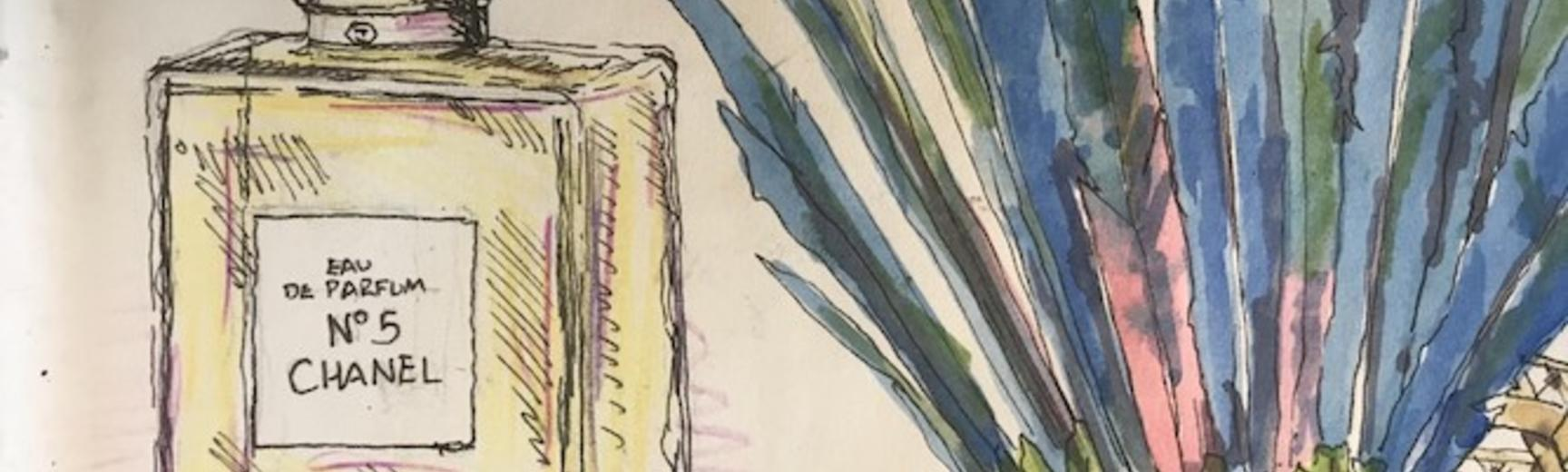 Image of bottle from example sketchbook