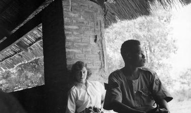 Anthropologist Jean Buxton in South Sudan, 1950s