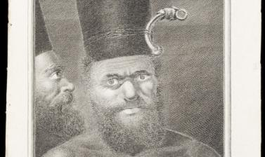 Kanak man of New Caledonia (name unknown), engraved for publication by François Germain Aliamet after an original drawing by William Hodges.
