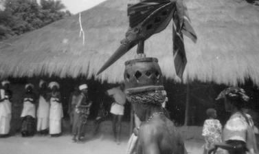 Mask photographed during the 1980s in Guinea-Bissau. (Copyright Ethnographic Museum of Guinea-Bissau)