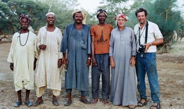 Roger Chapman and guides in Wadi El Malik, Sudan. 2014. (Courtesy Roger Chapman)