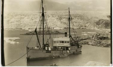 The Expedition group arrive at Base Fjord, Greenland.