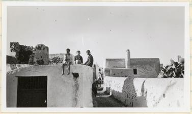 Children playing on the roof of a house. Santorini, Greece. Photograph by Ellen Ettlinger. 23 May 1938.