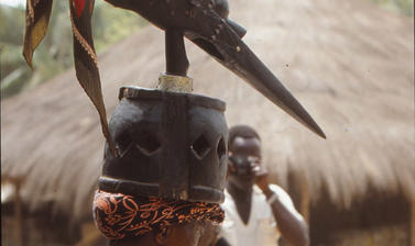 Mask photographed by Malcolm McLeod. (Copyright Ethnographic Museum of Guinea-Bissau)