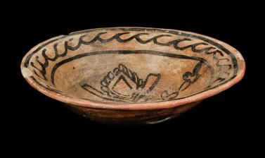 Ceramic bowl given to Barbara Freire-Marreco by Eulogia Naranjo de Padilla. Pueblo Tewa people. Santa Clara, New Mexico, United States of America. Naranjo had been the Governor of the indigenous Pueblo Council in 1909. Collected by Barbara Whitchurch Frei