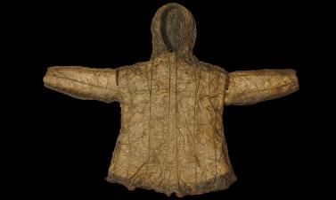 A hooded jacket (1925.11.3) after conservation
