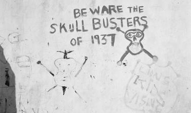 Skull Busters. Bo-Kaap, Cape Town, South Africa. Photograph by Bryan Heseltine. Circa 1949–1952. (Copyright Bryan Heseltine)