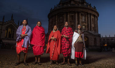 Maasai group in Radcliffe Square, Oxford