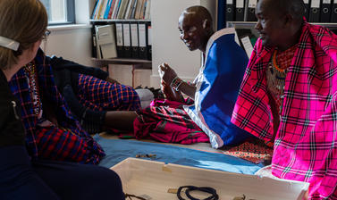 Maasai group in the Director's office