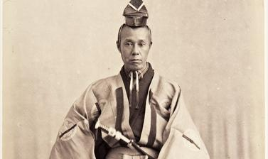Rentarō Tanaka. Photograph by Jacques-Philippe Potteau. Paris, France. 1864.