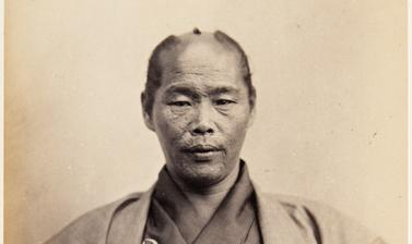 Portrait of Hikosaburō Takamatsu, a forty-two-year-old samurai who performed the function of assistant inspector (official spy) on the 1862 Japanese mission to Europe. Photograph by Jacques-Philippe Potteau. Paris, France. 1862. (Copyright Pitt Rivers Mus