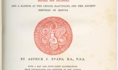 Title page of Arthur J. Evans, Through Bosnia and the Herzegovina on Foot during the Insurrection, August and September 1875 (2nd edn., London: Longmans, Green and Co., 1877).