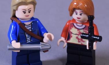 Plastic model of two women
