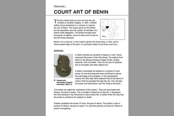 court art of benin