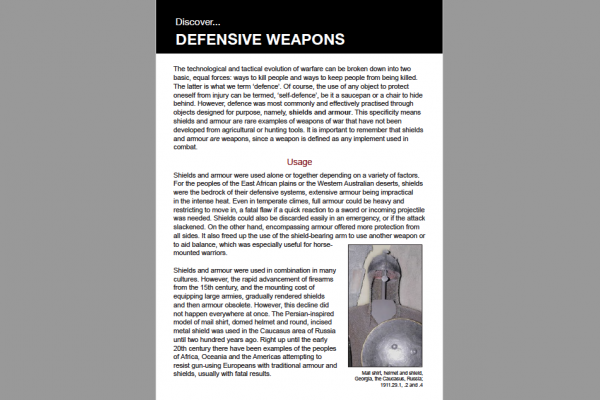 defensive weapons