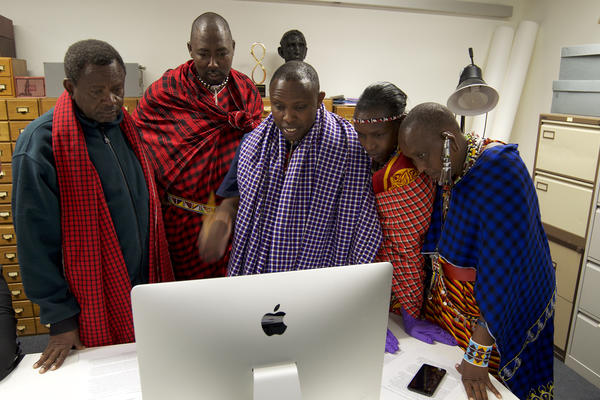 Maasai community members visiting PRM in 2019