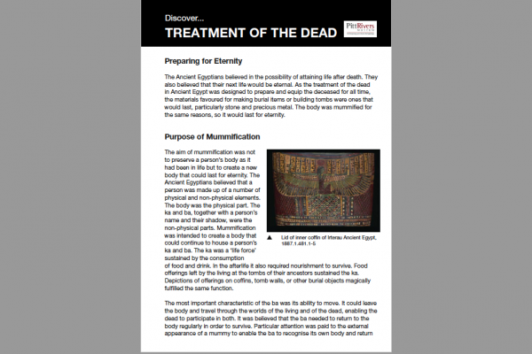 treatment of the dead