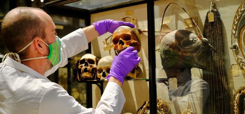 Skull removal from Treatment of Dead Enemies case July 2020 - Photo Hugh Warwick original