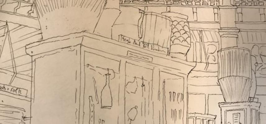 Image of drawing from example sketchbook