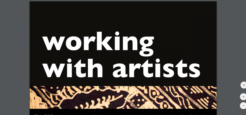 working with artists