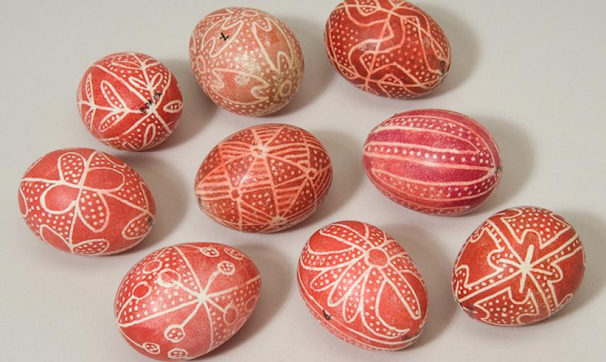Romanian decorated Easter eggs