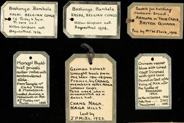 Museum labels showing outdated language