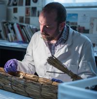 Jeremy Uden conserving an object